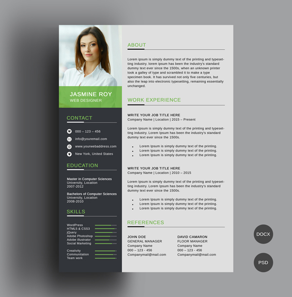 free cv resume templates best for design graphic junction clean template preview1 Resume Resume Templates 2019 Download