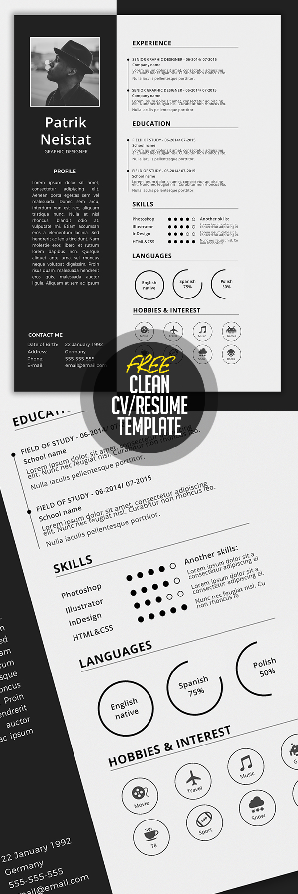 free cv resume templates best for design graphic junction template emt sample shipper Resume Resume Templates 2019 Download