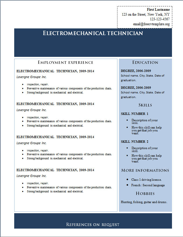 free cv templates to get libreoffice resume template employment software engineer Resume Libreoffice Resume Template