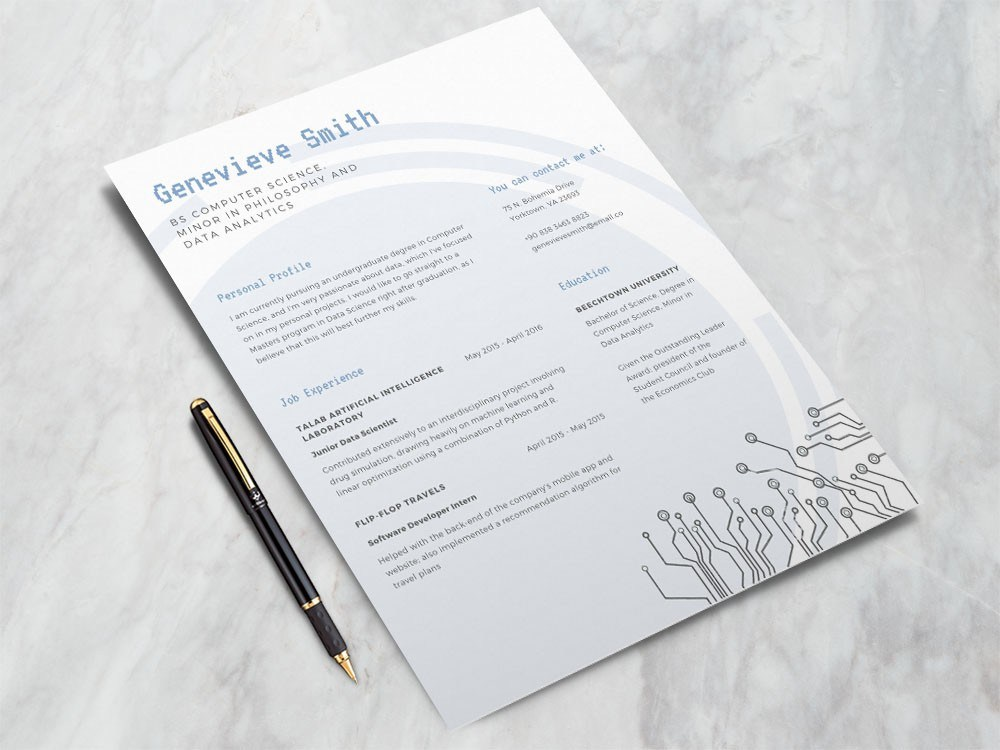 free data scientist resume template desktop support engineer clinical instructor samples Resume Resume Data Scientist Template