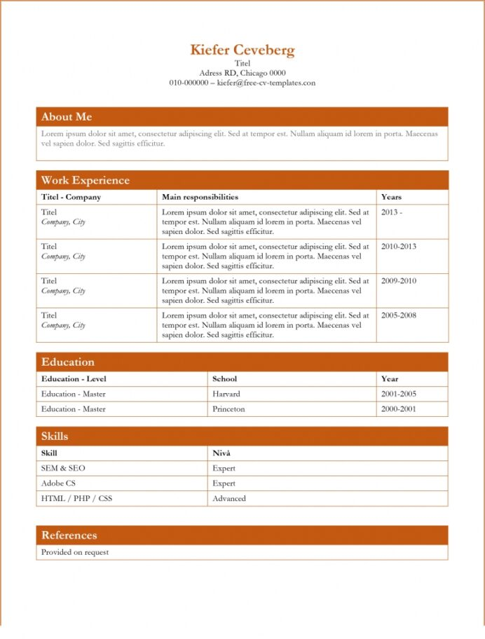 free dynamic cv templates land the job with our word resume boxes 777x1024 data Resume Free Dynamic Resume Templates