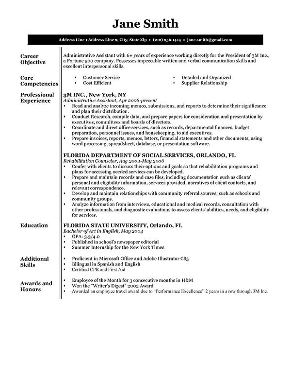 free executive resume templates in microsoft word format creativebooster template bw Resume Executive Resume Template Word