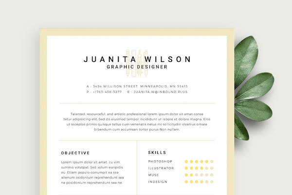 free eye catching résumé templates to help you stand out from the crowd designtaxi Resume Eye Catching Resume Templates