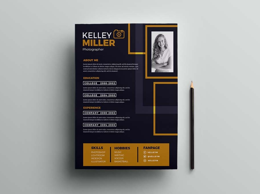 free illustrator resume templatediscover the world top designers creatives ui design Resume Resume Design Illustrator
