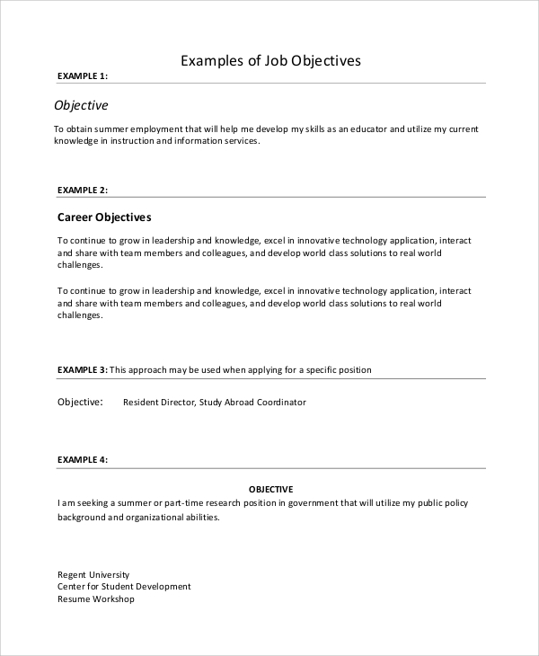 free job resume samples in ms word pdf teenage objective examples example2 ats formatted Resume Teenage Resume Objective Examples