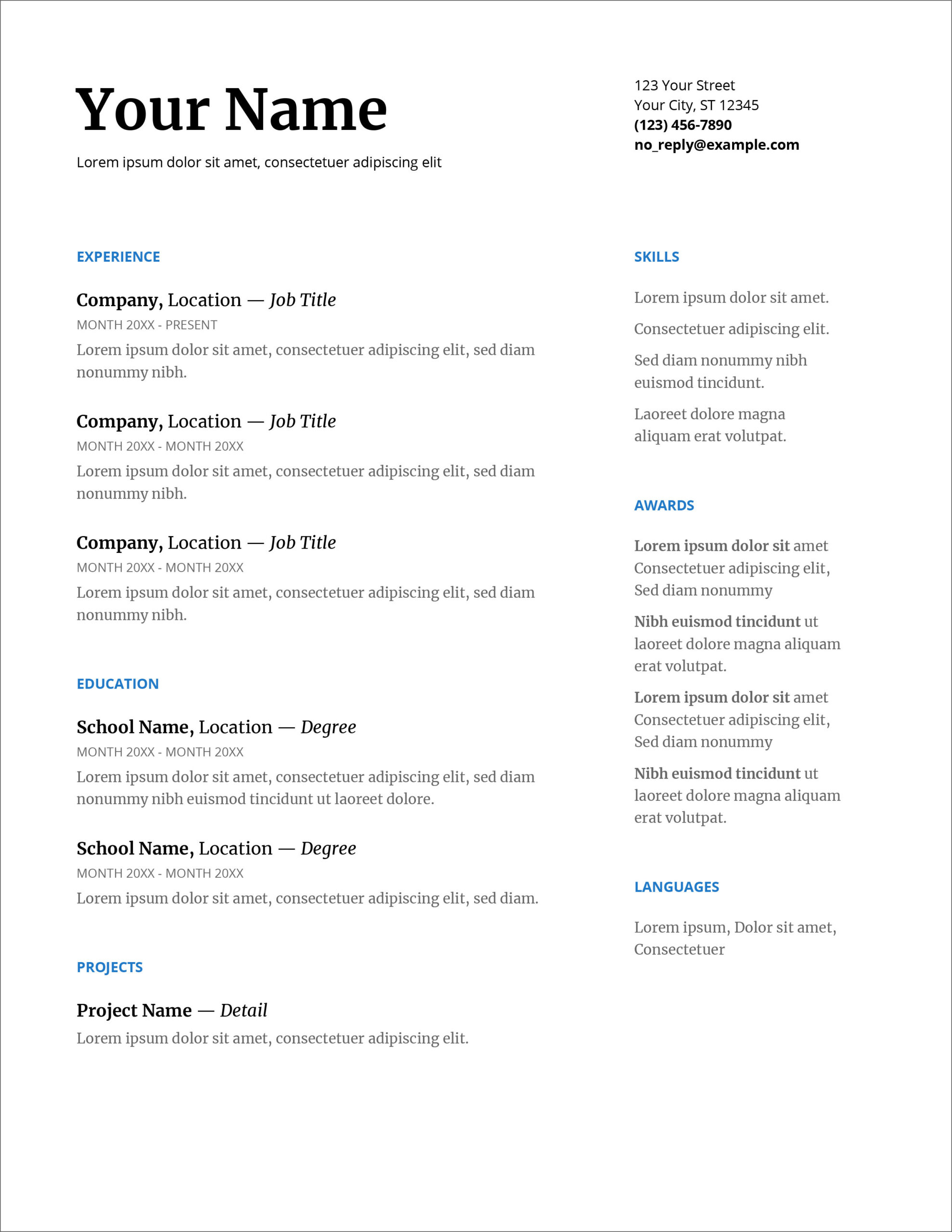 free modern resume cv templates minimalist simple clean design format for fresher 12th Resume Resume Format For Fresher 12th Pass