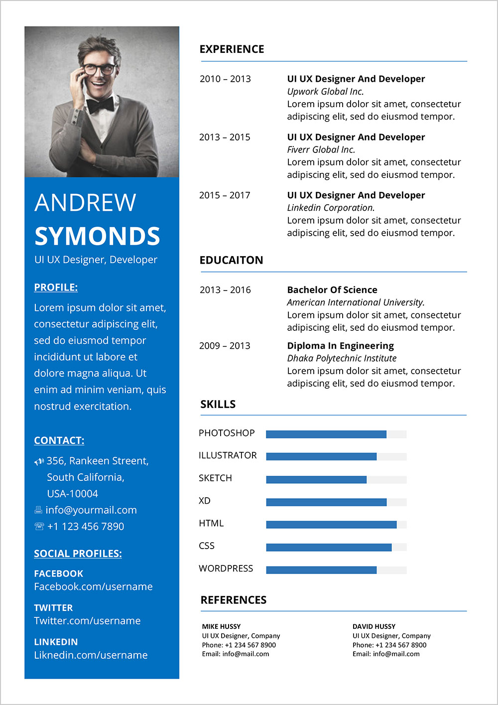 free modern resume template in word format good contemporary templates account executive Resume Contemporary Resume Templates Free Word