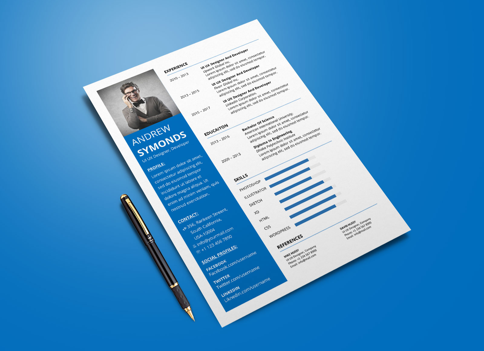 free modern resume template in word format good listing masters on draftsman sample areas Resume Resume Format Template Word
