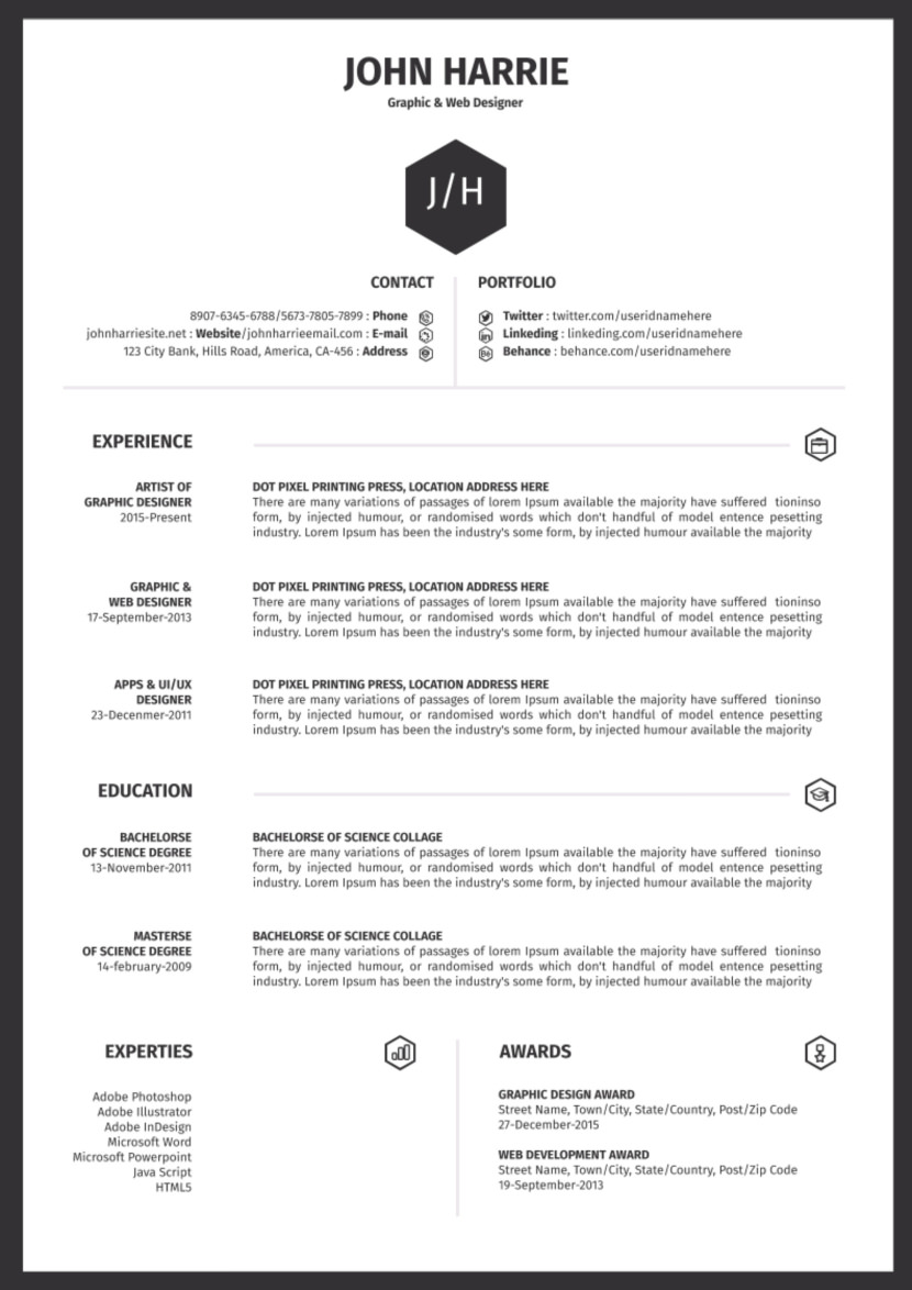 free one resume templates template word simple google result awaited format directional Resume One Page Resume Template Word Free