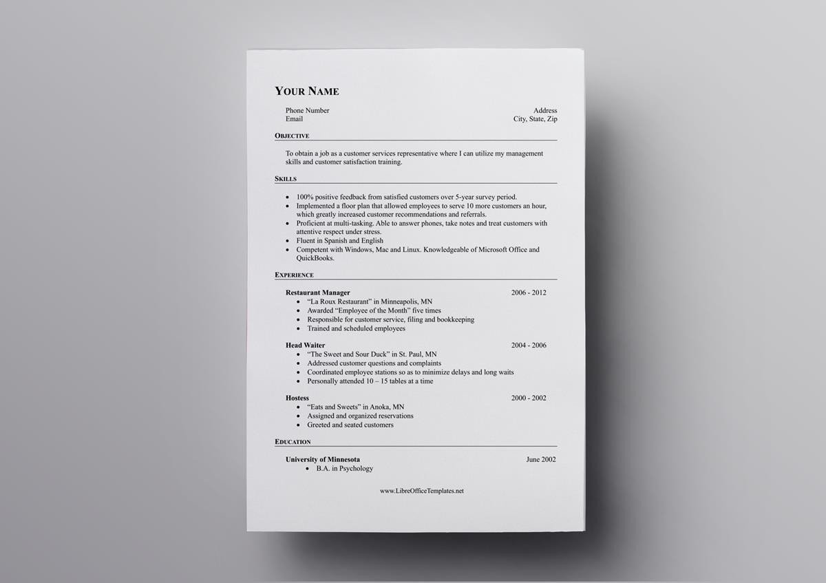 free openoffice resume templates also for libreoffice template open office acting creator Resume Libreoffice Resume Template