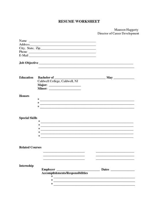 free printable blank resume forms career termplate builder form templates auto mechanic Resume Free Printable Resume Maker