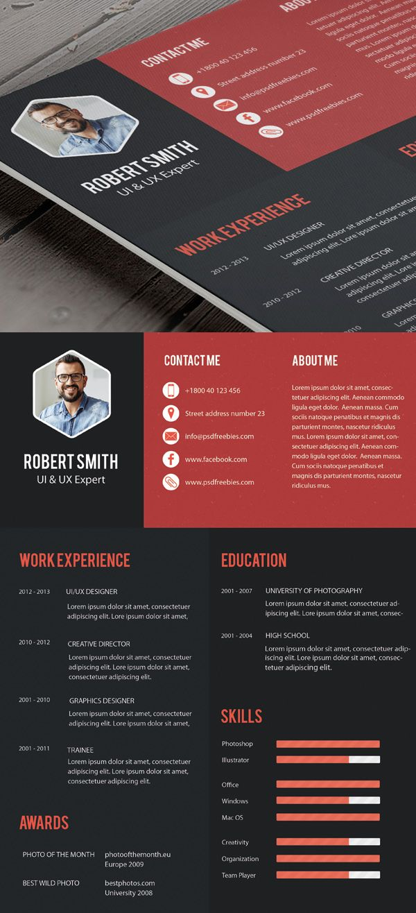 free professional cv resume and cover letter templates freebies graphic design junction Resume Creative And Professional Resume