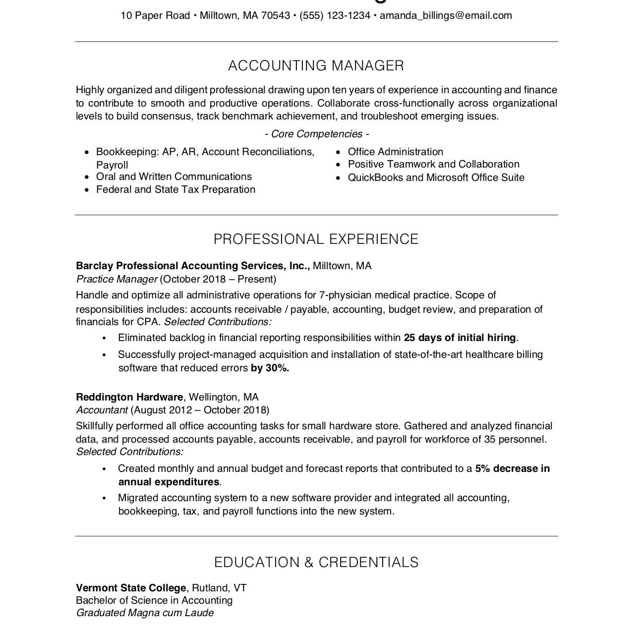 free professional resume examples and writing tips qualification format 2063596res1 fonts Resume Resume Qualification Format