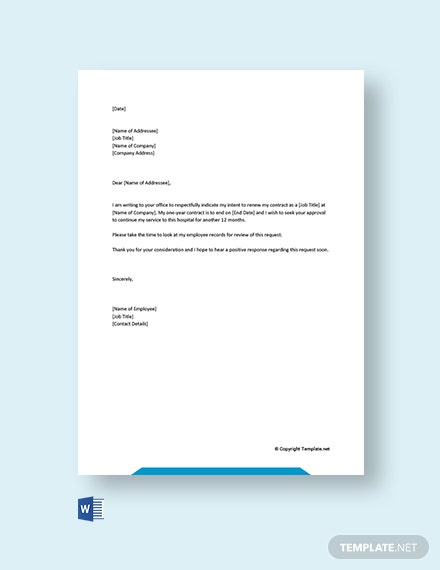 free renewal letter templates edit template net employee contract extension resume of Resume Employee Contract Extension Letter Resume