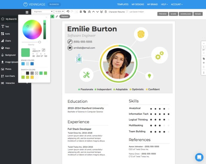 free resume cv maker get started in minutes best for freshers chic templates schlumberger Resume Best Resume Maker For Freshers