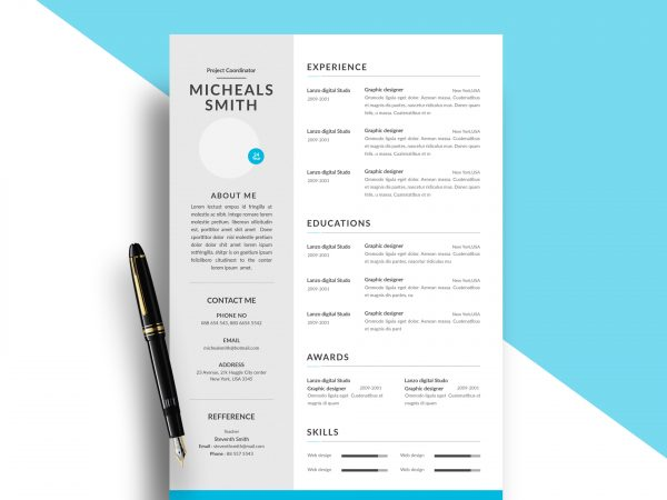 free resume cv templates in photohsp format best modern template 600x450 strong objective Resume Best Free Resume Templates 2019