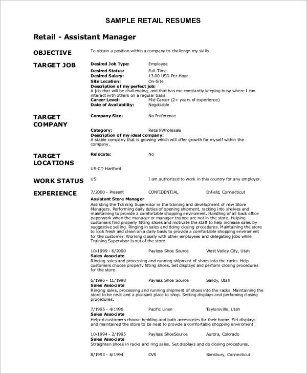 free resume objective samples in ms word pdf catchy statements retail example tesol Resume Catchy Resume Objective Statements