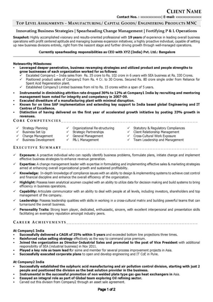 free resume samples cv template sample senior executive it level manufacturing entry Resume Senior Level Resume Sample