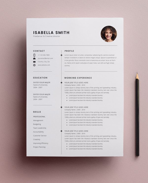 free resume template cv freebies graphic design junction get templates 3page best project Resume Get Free Resume Templates