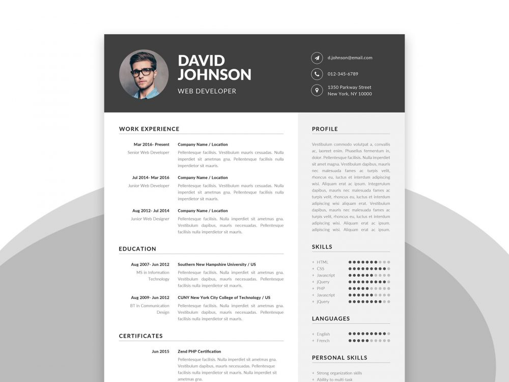 free resume template in ms word format setresume templates for with cover letter 1000x750 Resume Resume Templates For Word 2021