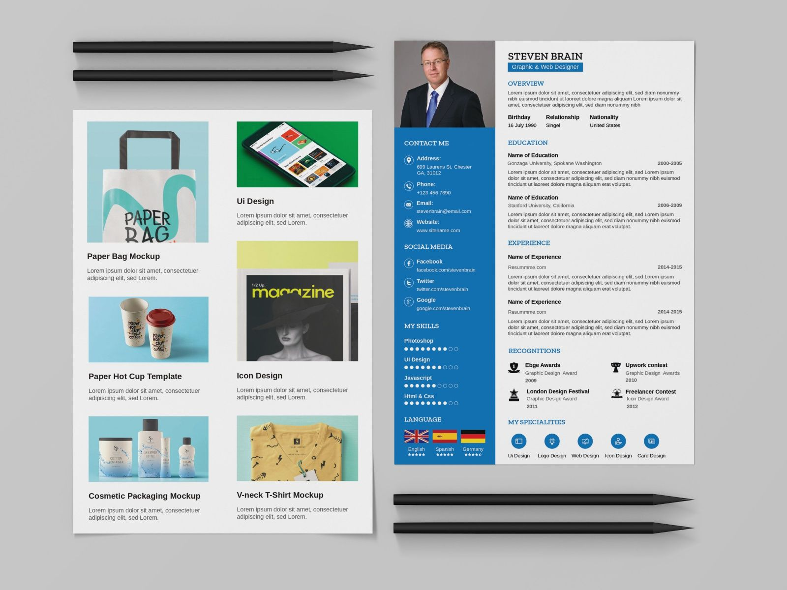 free resume template with portfolio sqa sample highlights section babysitter summary Resume Resume Portfolio Template Free