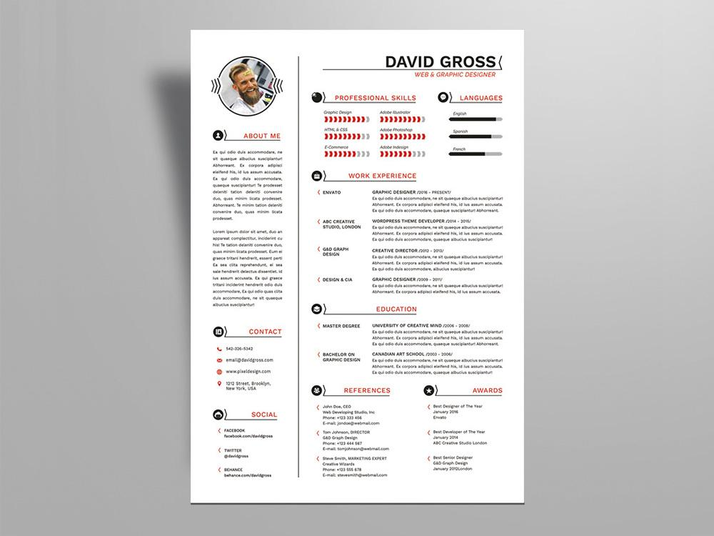 free resume templates in illustrator format creativebooster design hipster style template Resume Resume Design Illustrator