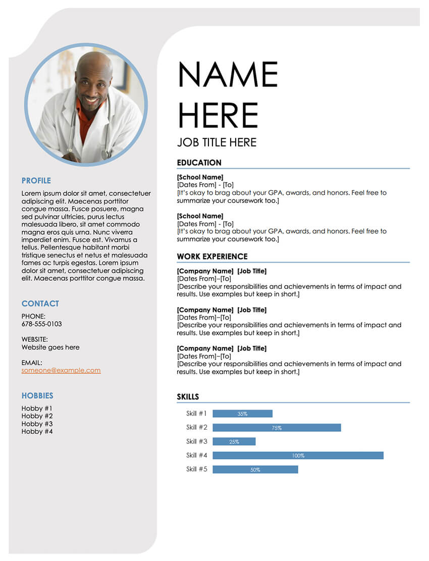 free resume templates open office libreoffice ms word template blue grey software Resume Libreoffice Resume Template