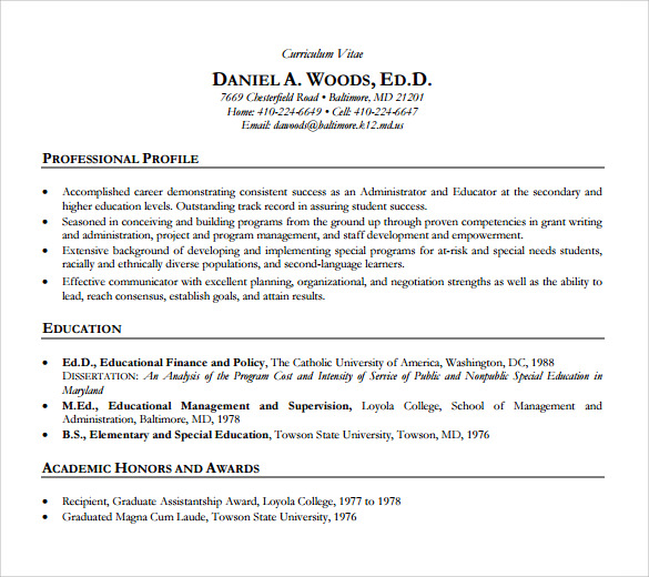 free sample academic resume templates in pdf ms word professional cv construction worker Resume Professional Academic Resume