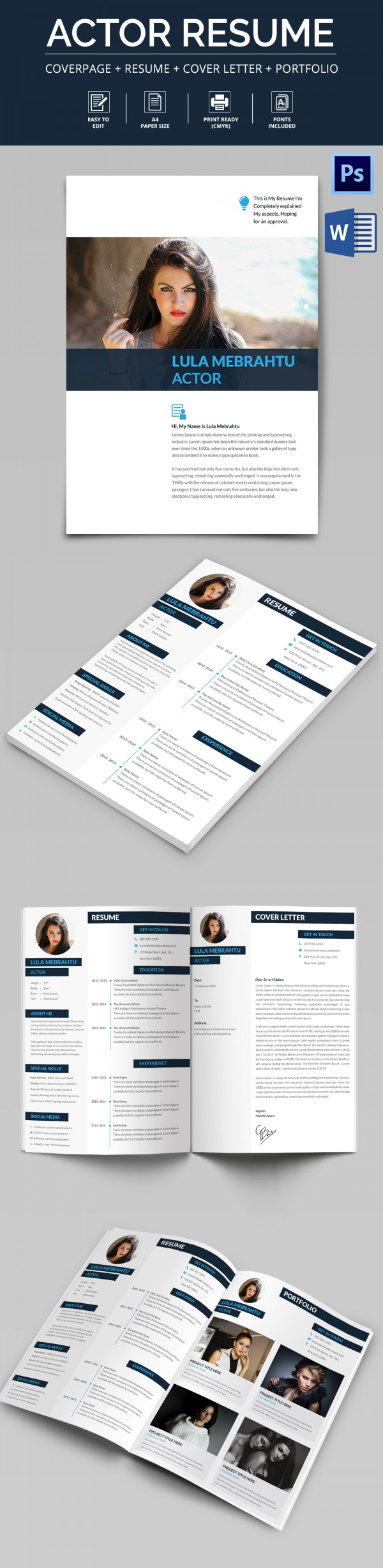 free sample acting cv templates in pdf resume format excel editable actor template should Resume Resume Format Excel Download