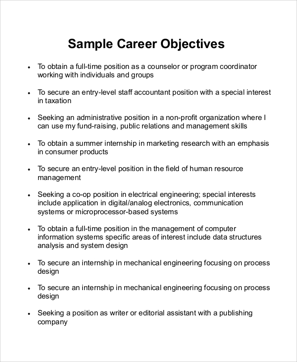free sample career objective statement templates in ms word pdf non profit resume Resume Non Profit Resume Objective Examples