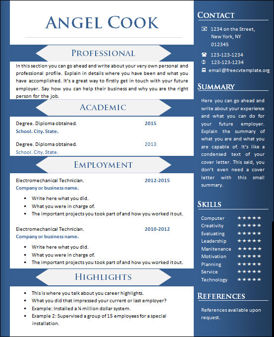 free sample creative resume templates in ms word writer example entry level accounting Resume Creative Writer Resume Example