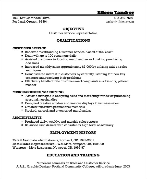 free sample customer service resume templates in ms word pdf template job for recent Resume Customer Service Resume Template Free