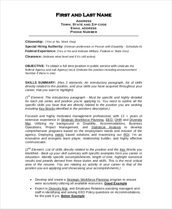 free sample format for resume templates in pdf ms word federal tips creating the best Resume Sample Federal Resume Format