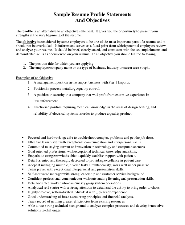 free sample resume objective examples in pdf electrician statement example layout word Resume Electrician Resume Objective Statement