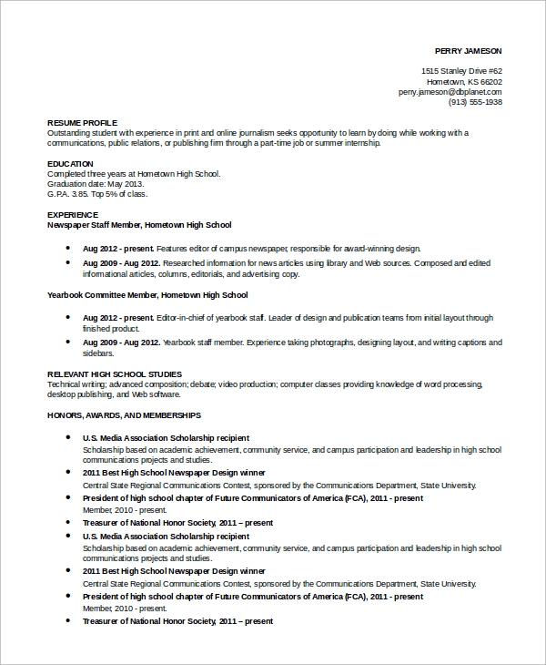 free simple resume examples in ms word pdf awards for academic example astronaut plumber Resume Awards Examples For Resume