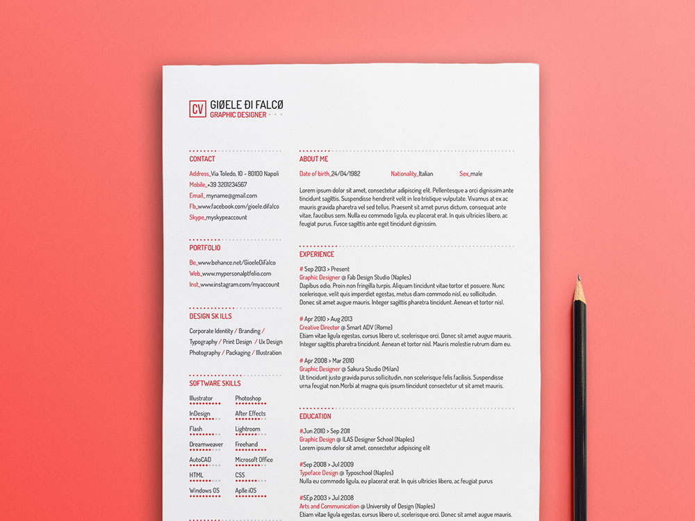 free simple typographic resume template with clean design typography entry level Resume Typography Resume Template