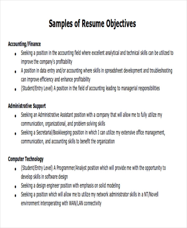 free to write attention grabbing career objective do don ts good job objectives for Resume Good Job Objectives For Resume