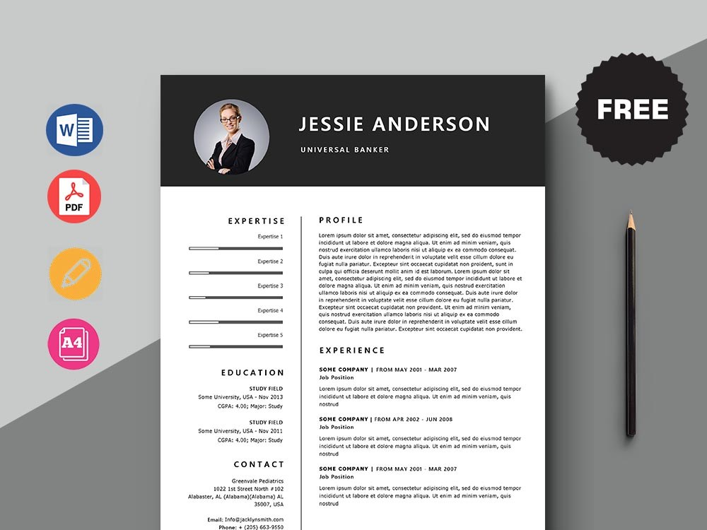 free universal banker resume template with minimal and elegant look job description for Resume Universal Banker Job Description For Resume
