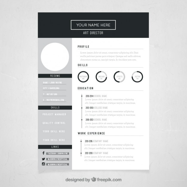 free vector art director resume template artist great additional skills for professional Resume Artist Resume Template Free Download