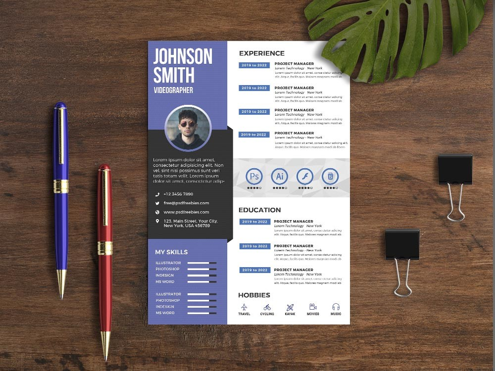 free videographer resume template with modern and professional look examples risk Resume Videographer Resume Examples