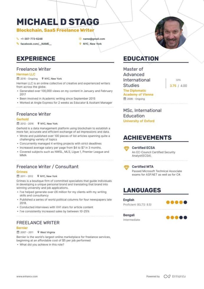 freelance writer resume examples and skills you need to get hired digital content salon Resume Content Writer Resume Samples