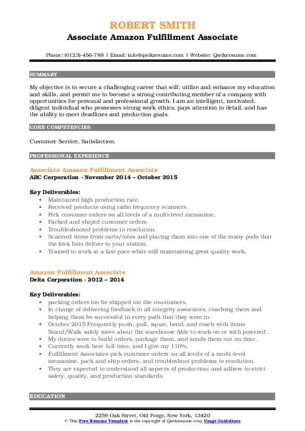 fulfillment associate resume samples qwikresume pdf salesforce cpq and references aflac Resume Salesforce Cpq Resume Samples