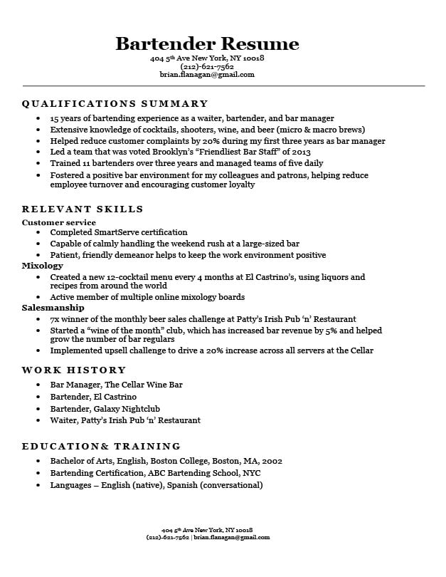 functional resume format examples templates writing guide student bartender sample mind Resume Student Functional Resume