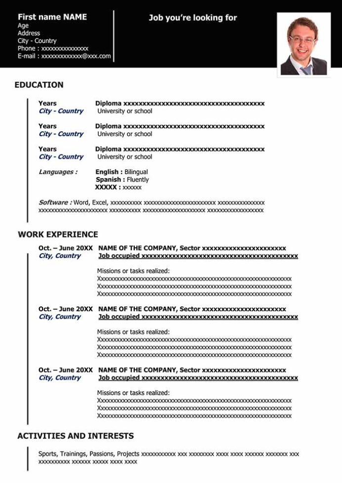 functional resume in word for free samples example organized black sap data services Resume Functional Resume Example