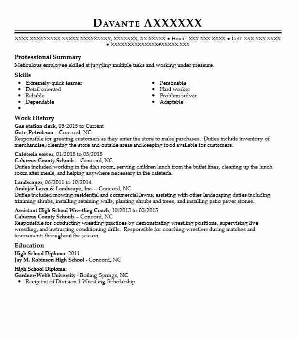 gas station clerk resume example oil company wills point experience listing webinars on Resume Gas Station Experience Resume