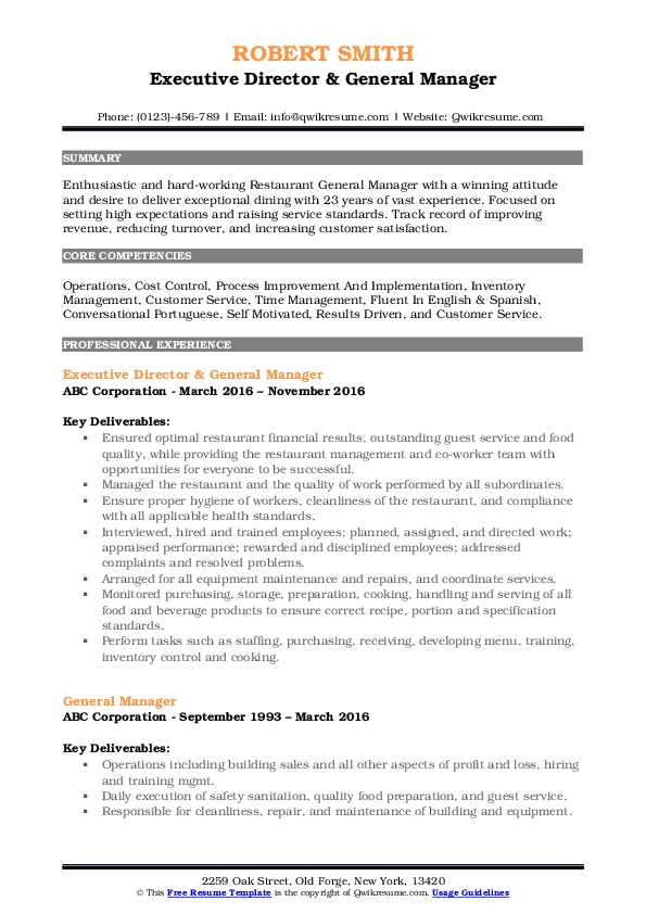 general manager resume samples qwikresume for position pdf highlights template ideas Resume Resume For General Manager Position