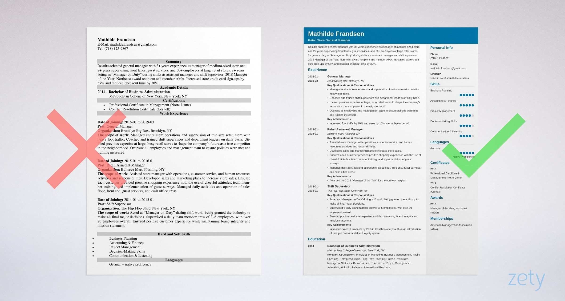 general manager resume template guide examples sample for position example address on Resume Resume Sample For General Manager Position