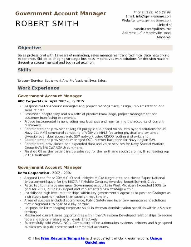 government account manager resume samples qwikresume pdf best linkedin education or Resume Government Resume Samples