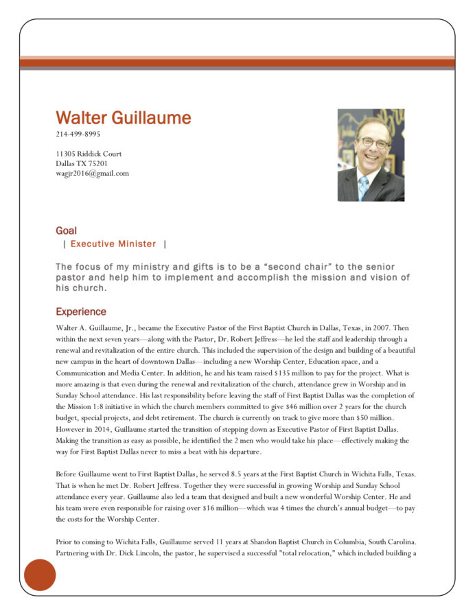 great resumes xpastor resume for pastoral position new of walter guillaume best skill Resume Resume For Pastoral Position