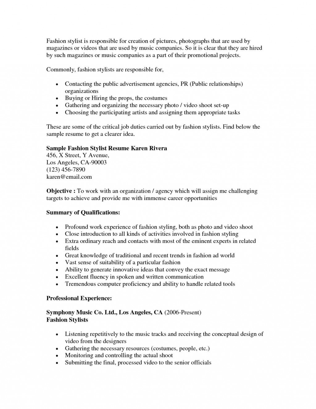 hair stylist resume template addictionary fashion summary archaicawful ideas example of Resume Fashion Stylist Resume Summary